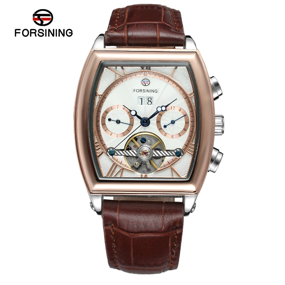 Men Watches Male Watch Square Wrist Watches Mechanical Retro Chronograph Man Clock Automatic Genuine Leather Strap Date genuine jedir quartz male watches genuine leather watches racing men students game run chronograph watch male glow hands