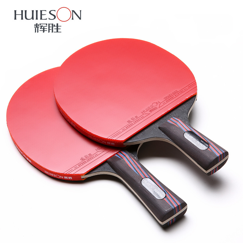 цена на 5 star Double Face Pimples-in carbon bat table tennis racket with rubber pingpong paddle short long handle tennis table rackt