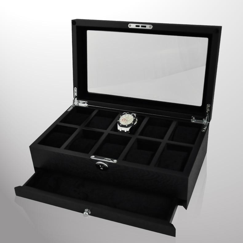 Luxury wood watch box packagin top window for 10 Watches storage box Wooden Watch display High quality watch case /Men gift & ?Luxury wood watch box packagin top window for 10 Watches storage ...
