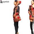Dashiki Blazers And Jackets Autumn Traditional Hoodies Jacket Plus Size Blazer Zipper Long Sleeve Black African Print Wind Coat