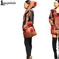 Dashiki Blazers Y Chaquetas Otoño Hoodies Chaqueta Tradicional Africano De Impresión Más El Tamaño de la Chaqueta de la Cremallera de Manga Larga Negro Abrigo Del Viento