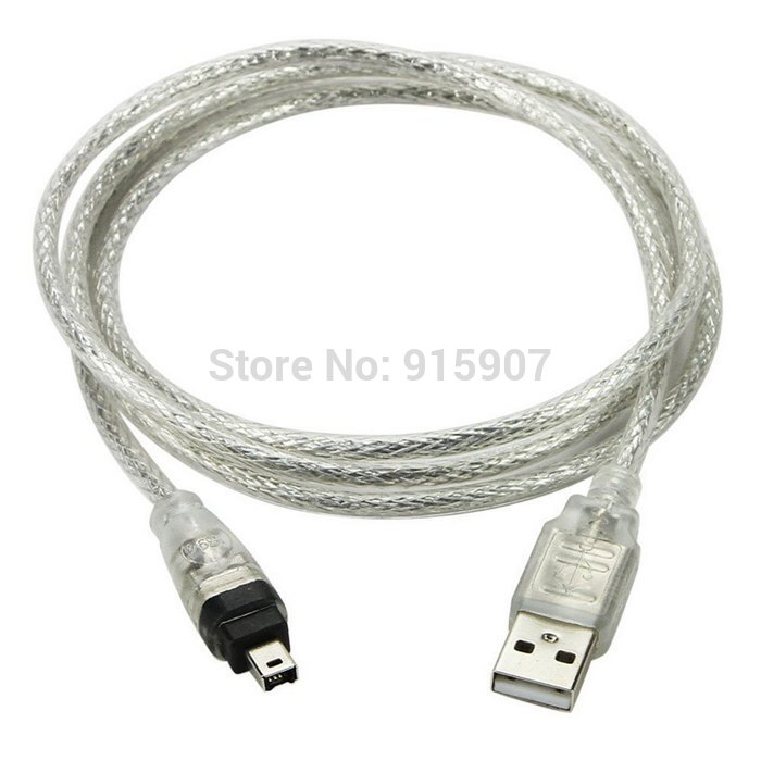 CY 100cm USB Male To IEEE 1394 Firewire 4 Pin Male ILink Adapter Cord Cable For DCR-TRV75E DV