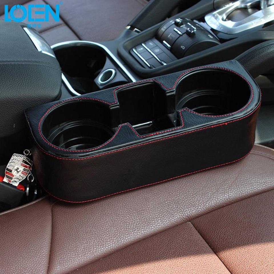 LOEN 상자 PU 가죽 휴대용 시좌 간격 컵 시가렛에 대한 - 자동차 인테리어 용 액세서리 - 사진 2