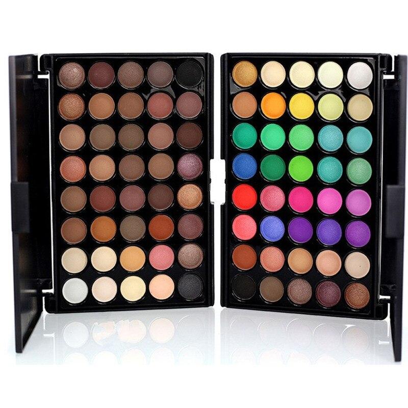 40 Color Matte Eye Shadow Palette Long-lasting Waterproof Makeup Eye Shadow Shimmer Cosmetic Pigment Eyeshadow Palette professional cosmetic makeup 15 color eye shadow palette black