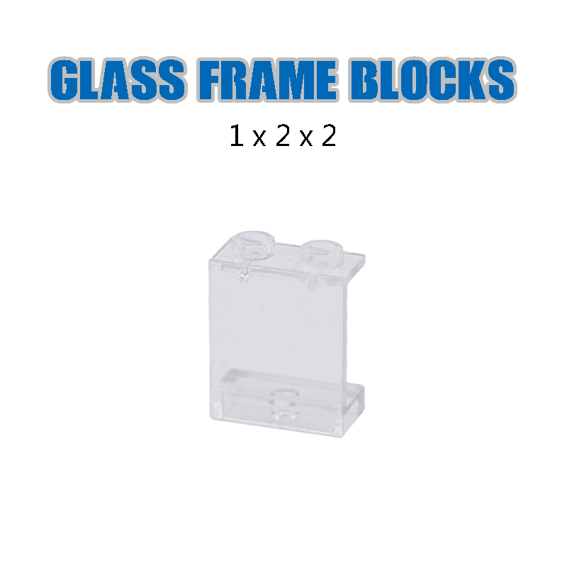 Image 5 - LegoINGlys City Building Blocks Window Frame Transparent Panel Wall House Parts Street View Friends Accessories MOC Bricks Toys-in Blocks from Toys & Hobbies