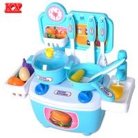 Kids Assembly Toy Kitchen Simulation Faucet Fruit Vegetable Egg Cooking Food Prentend Play Set For Children