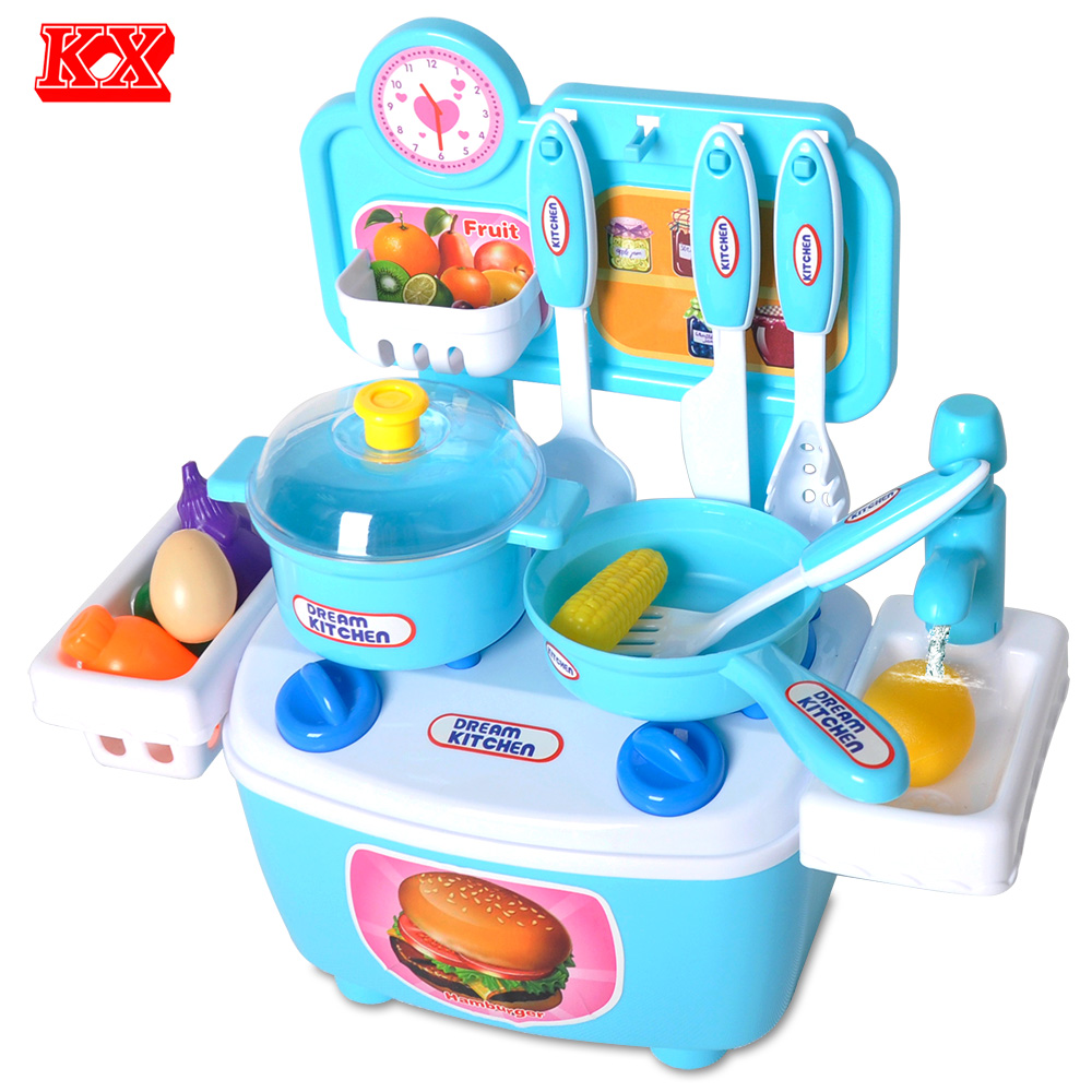 Kids Assembly Toy Kitchen Simulation Faucet Fruit Vegetable Egg ...