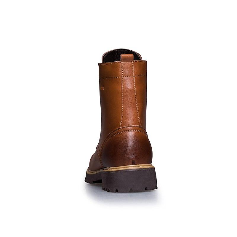 Chaud D'hiver Grande Cheville red Casual De Hommes Bottes Fourrure Martin Taille Rétro Neige 2018 brown Avec automne brown Black KHOqIWM