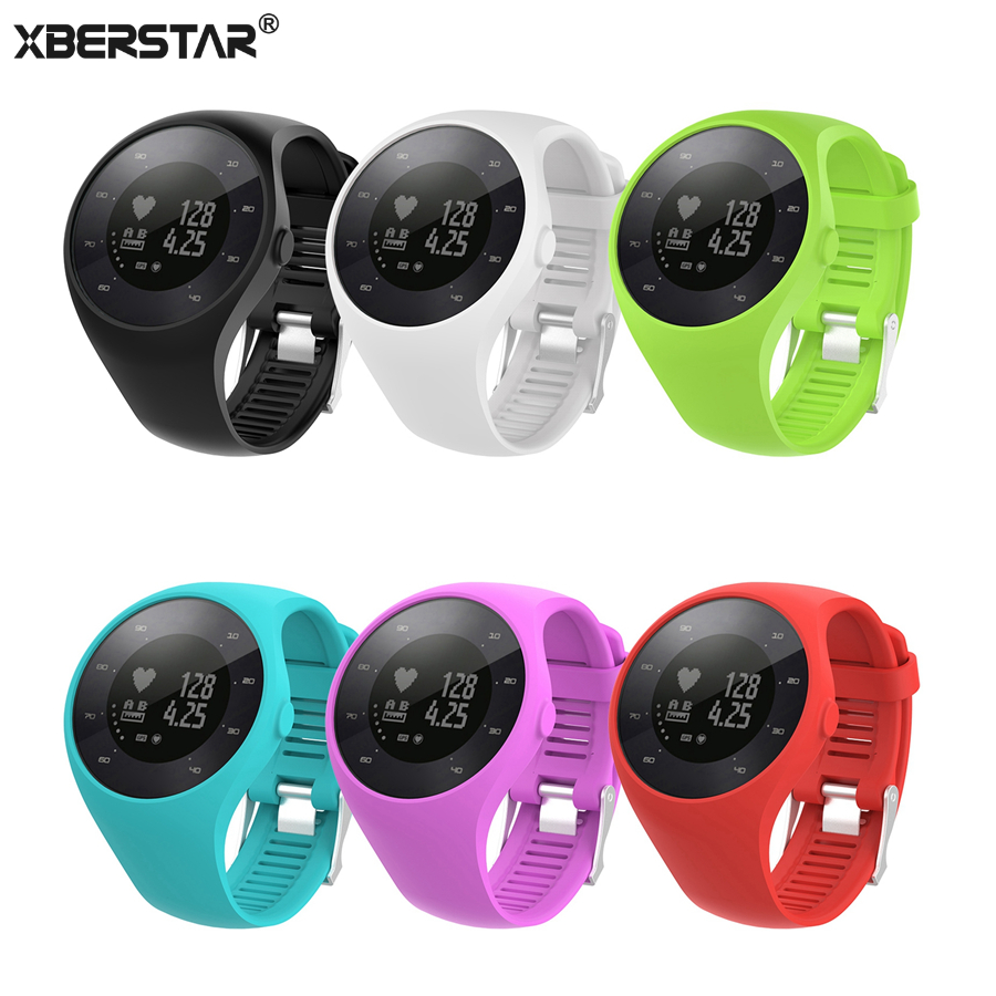 XBERSTAR Watchband for Polar M200 GPS Running Watch Replacement Strap Band Silicone Wristband Bracelet Watch Band polar soft strap st m xxl gen