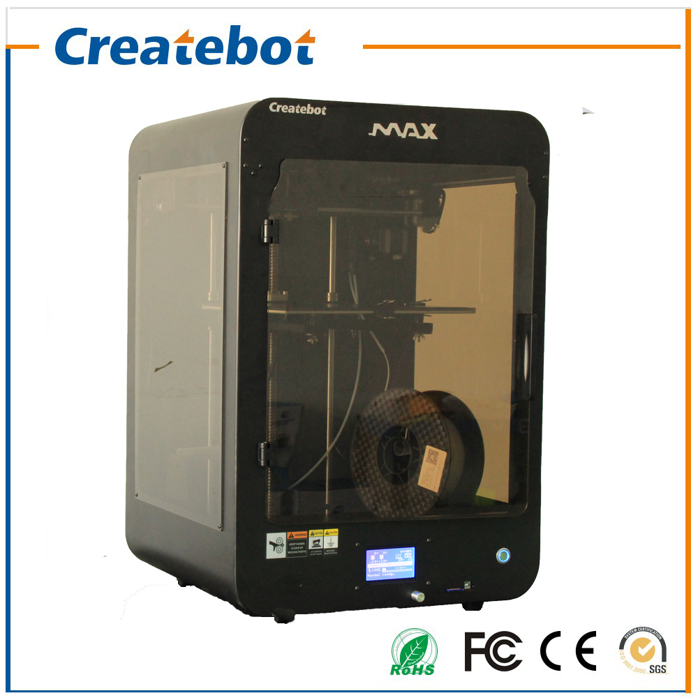 High Accuracy Createbot MAX 3d Printer Kit LCD Display Metal Frame Structure Large Printing Size280*250*400mm imprimante 3d