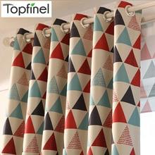 Новинки Topfinel современные роскошные шторы для гостиной спальни плотные шторы в детекую Шторы тюль с рисунками геометрическими