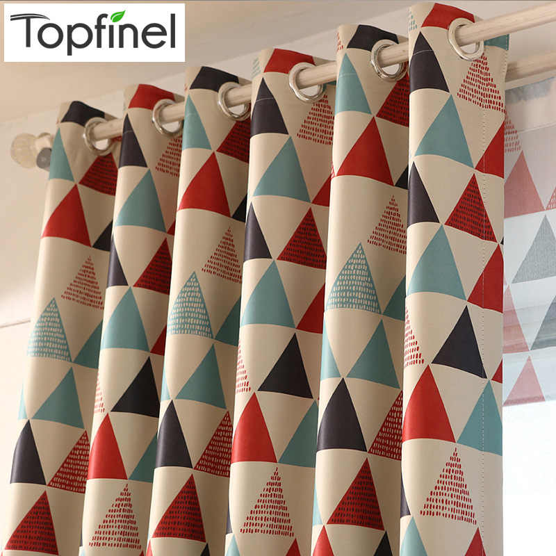 Topfinel Modern Geometric window treatments Curtains for Living Room for Bed Room Blackout Curtains Kitchen Kid Room