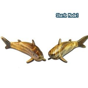 Image 4 - 1 шт. 33 см деревянная модель акулы, фигурки животных, имитация качелей, украшение в стиле ретро, аксессуары для домашнего декора, Игрушечная модель рыбы