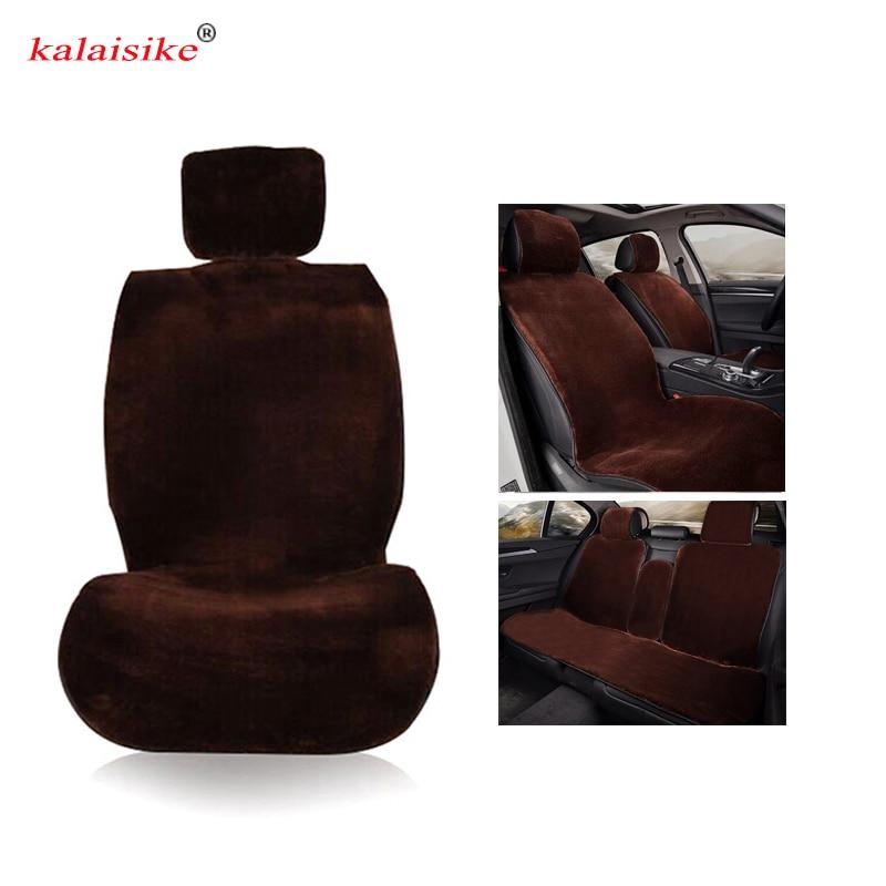 Housses de siège auto universelles en peluche kalaisike pour Volkswagen tous les modèles polo golf tiguan Passat jetta vw Phaeton touareg Phaeton