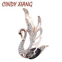 Swan-Brooches Jewelry Animal-Pins Cindy Xiang Crystal Rhinestone Elegant Women Fashion