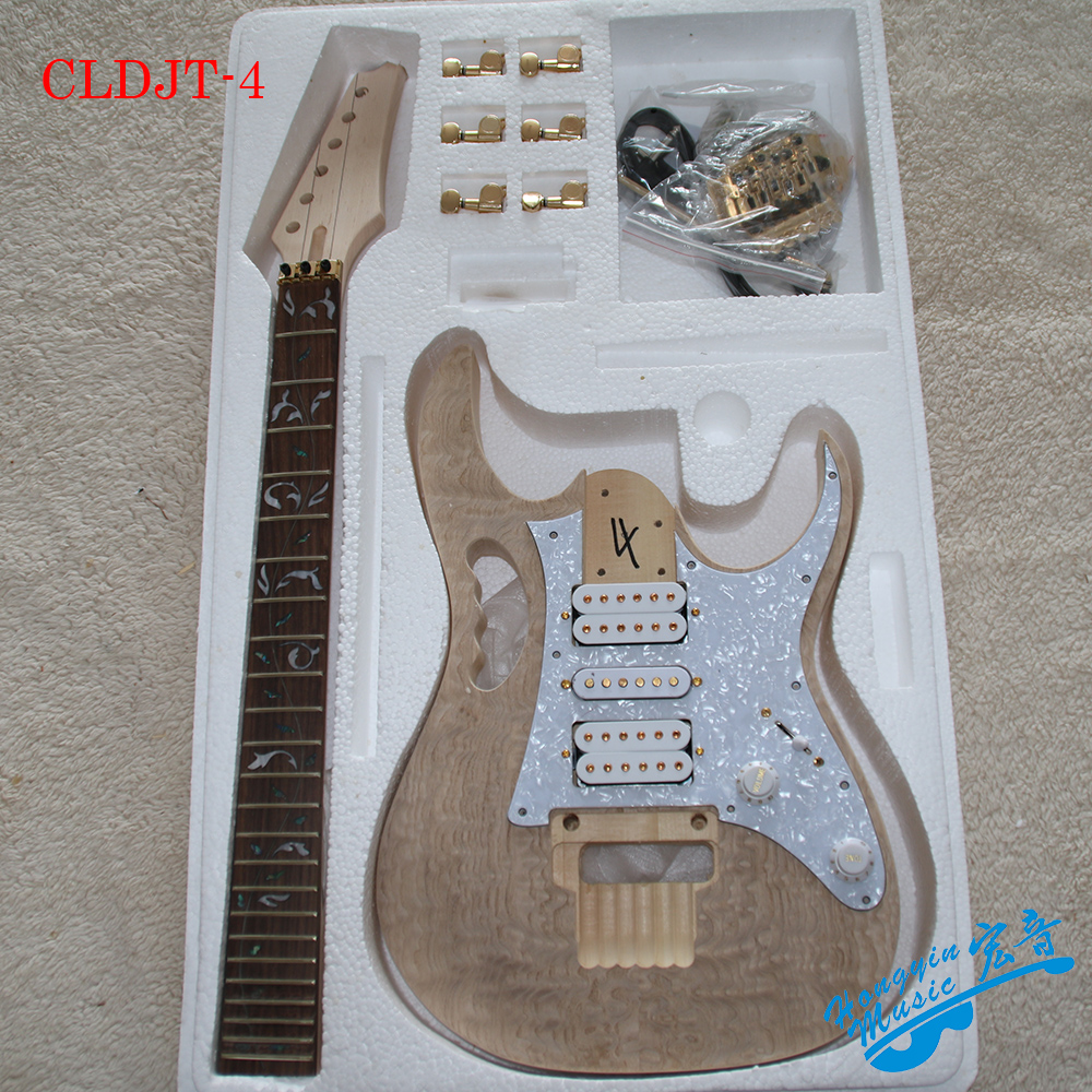 DIY 7V Manchurian Ash Electric Guitar Kit Set Basswood Body Rosewood Fingerboard Durable Maple Neck Guitar Accessories diy electric guitar kit unique body rosewood fingerboard neck for lp guitar body african mahogany with a 15 mm of american har