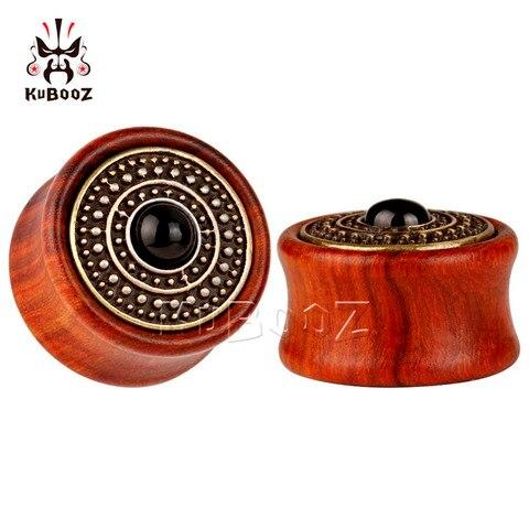 Купить деревянные пробки для ушей kubooz пирсинга украшения тела с
