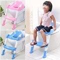 Bebê Assento de Segurança para Cadeira de Criança Potty Wc Instrutor Passo com Escada Ajustável Infantil Assento Treinamento do Toalete Não-deslizamento Dobrável