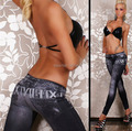 Seamless Jeggings Jeans for Women Belt Printed Leggings that Look Like Jeans