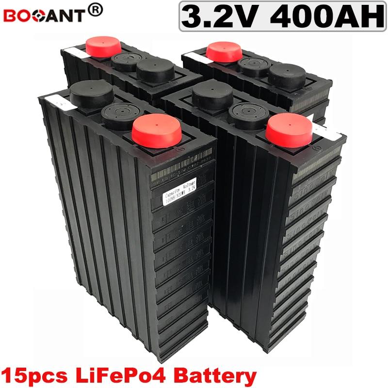 15pcs 48V 400Ah 3.2V LiFePo4 Battery For Electric Bike, Solar Energy Storage DIY Lithium Battery 12V 24V 36V 48V 60V 72V battery