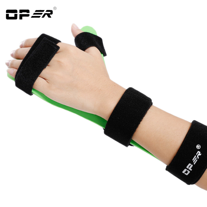 Oper Medical Finger Wrist Brace S-shaped Fixed Clamp Orthosis Fracture Sprain Recovery Posture Correction Support 2018 Hot Sale sport cotton wrist brace wrap support black