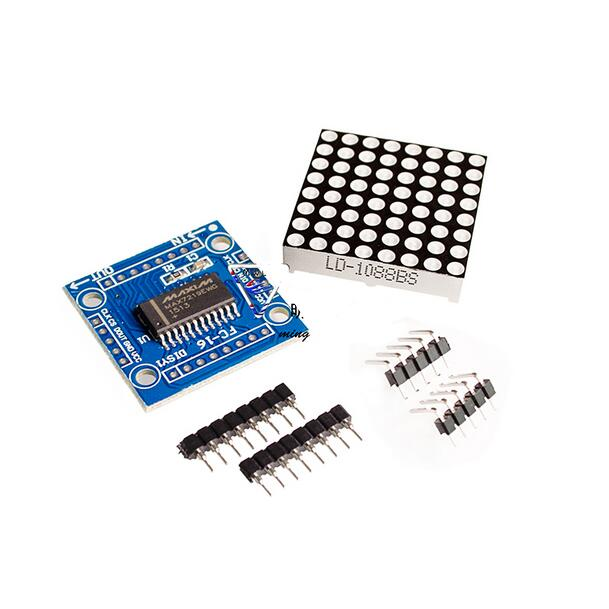 8x8 LED dot matrix module MAX7219 display module DIY suite single chip microcomputer control module(China)
