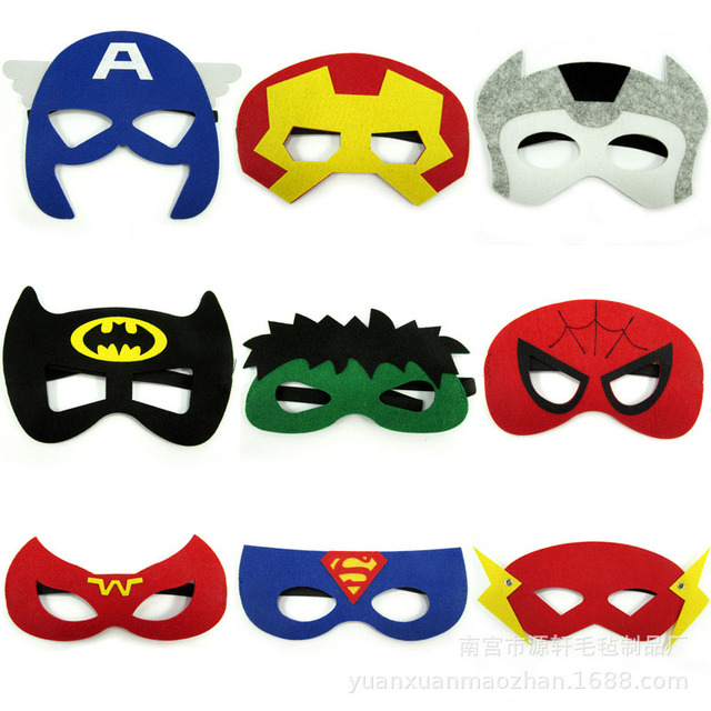 30 Colors Kids Super Hero Cosplay Mask Kids Birthday Party Anime and Movie Cosplay Blinds Halloween Show Dress Up Costume Mask 2