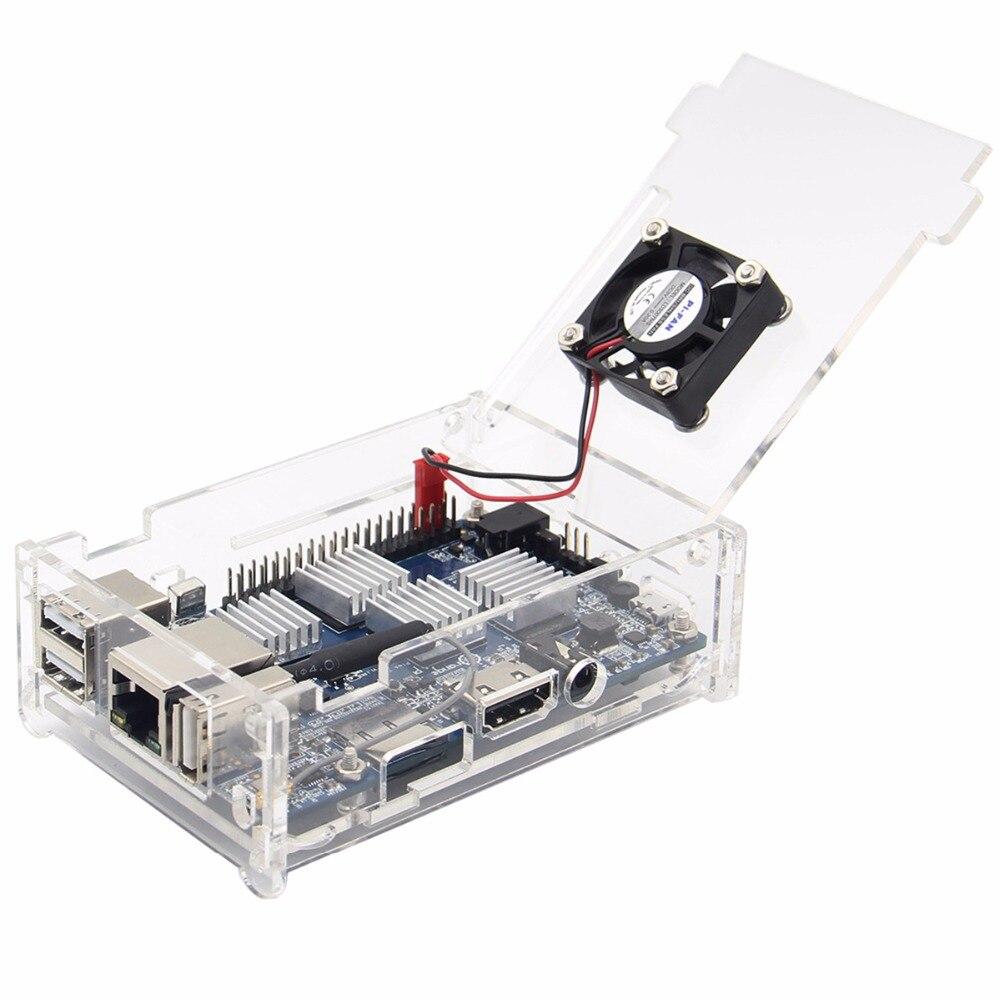 Orange pi plus 2e prime acrylic protective case box for 2 case kit di storia
