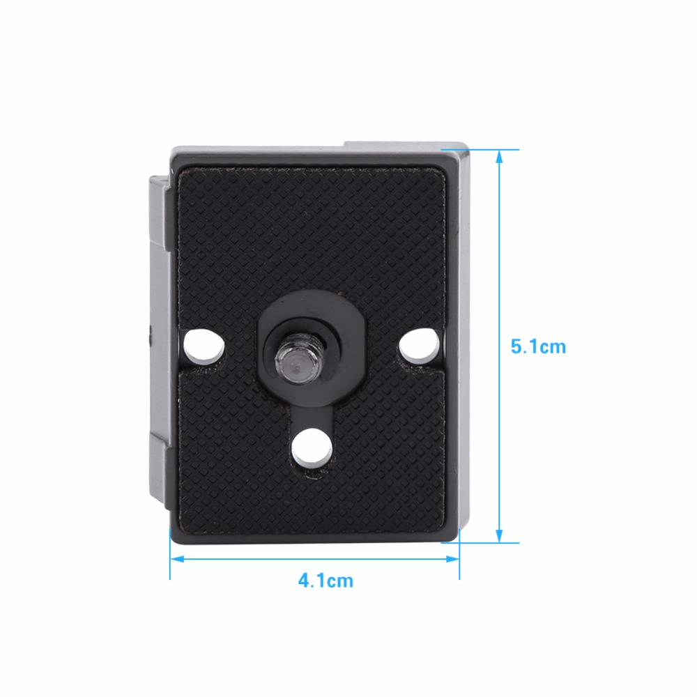 Metal Alloy Durable and Lightweight V BESTLIFE 1//4 Screw Quick Release Plate for Various Manfrotto
