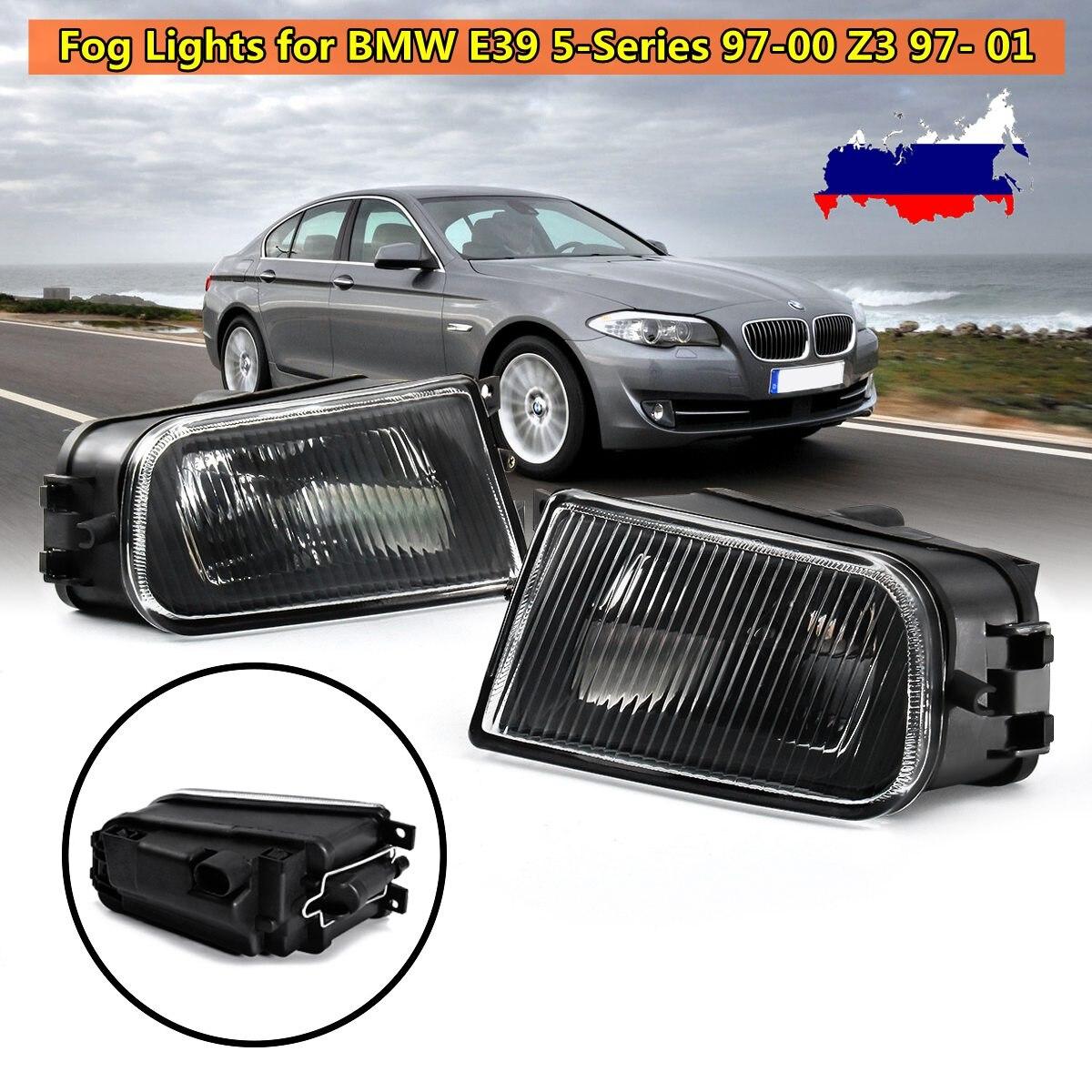 Paire de phares antibrouillard noirs pour BMW E39 série 5 528i 540i 1997-2000 Z3 1997-2001
