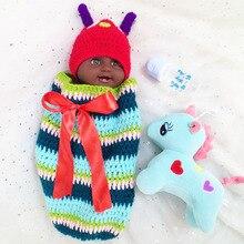 Bebé reborn muñeca Africana juguetes 50cm de vinilo completo cuerpo de silicona muñeca negra Niño para niños regalo l. o muñeca renacida l bebe