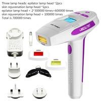 Домашний лазерный эпилятор IPL Depilador лица постоянное удаление волос устройства лазерные женщины волосы remoal машины 700000 раз импульсов лампа