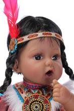 20 inch 50cm Silicone baby reborn dolls, lifelike doll reborn babies toys for girl princess gift brinquedos  Children's toys