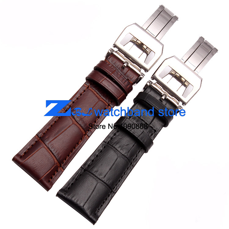 watchbands 20mm 21mm 22mm Genuine leather watchband Brown Black Wrist watch band strap wristwatches belt Folding clasp