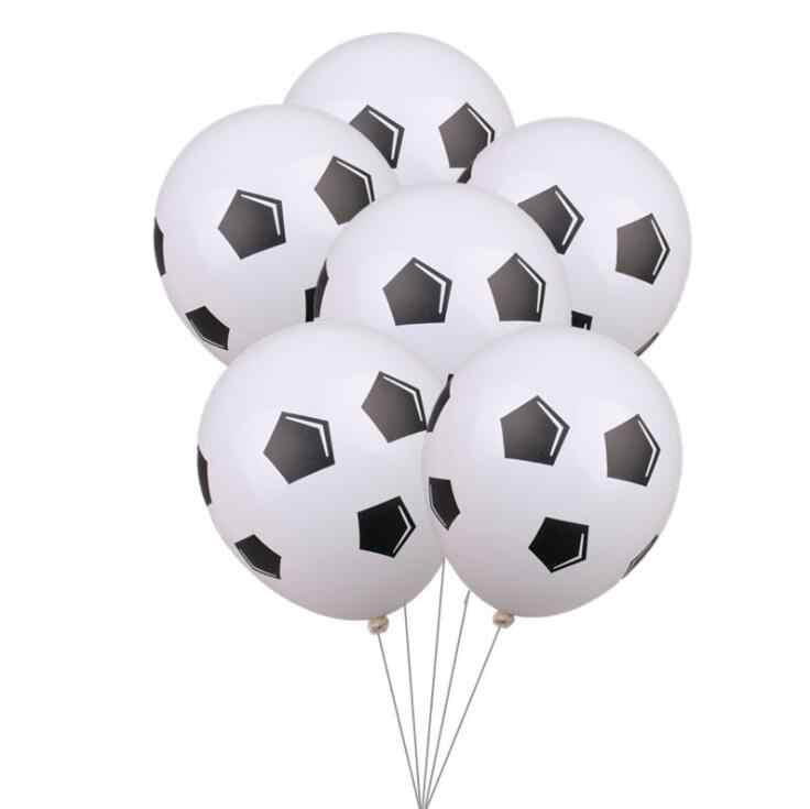 "10pcs/lot 12inch Thicken Soccer Balls 12"" Football Latex Balloons Birthday Party Decoration Children's Toys Football Theme"