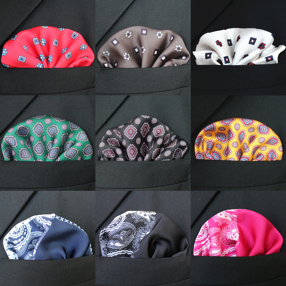 JEMYGINS Original Silk Floral Hanky Fashion Multicolor Men Pocket Square Hankerchief Accessories For Wedding Gentlemen Suit