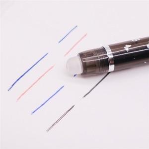 Image 5 - 144 stücke 0,5mm Löschbaren Stift Flüssigkeit Tinte Voll Nadelspitze Gel Stift Kristall Blau Schwarz Rot Tinte Blau refill Student schreibwaren Stifte