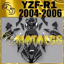 Motoegg Injection Mold Fairing Fit YZF R1 YZF-R1 04-06 Black White+Half Tank M41   Motorcycle plastic