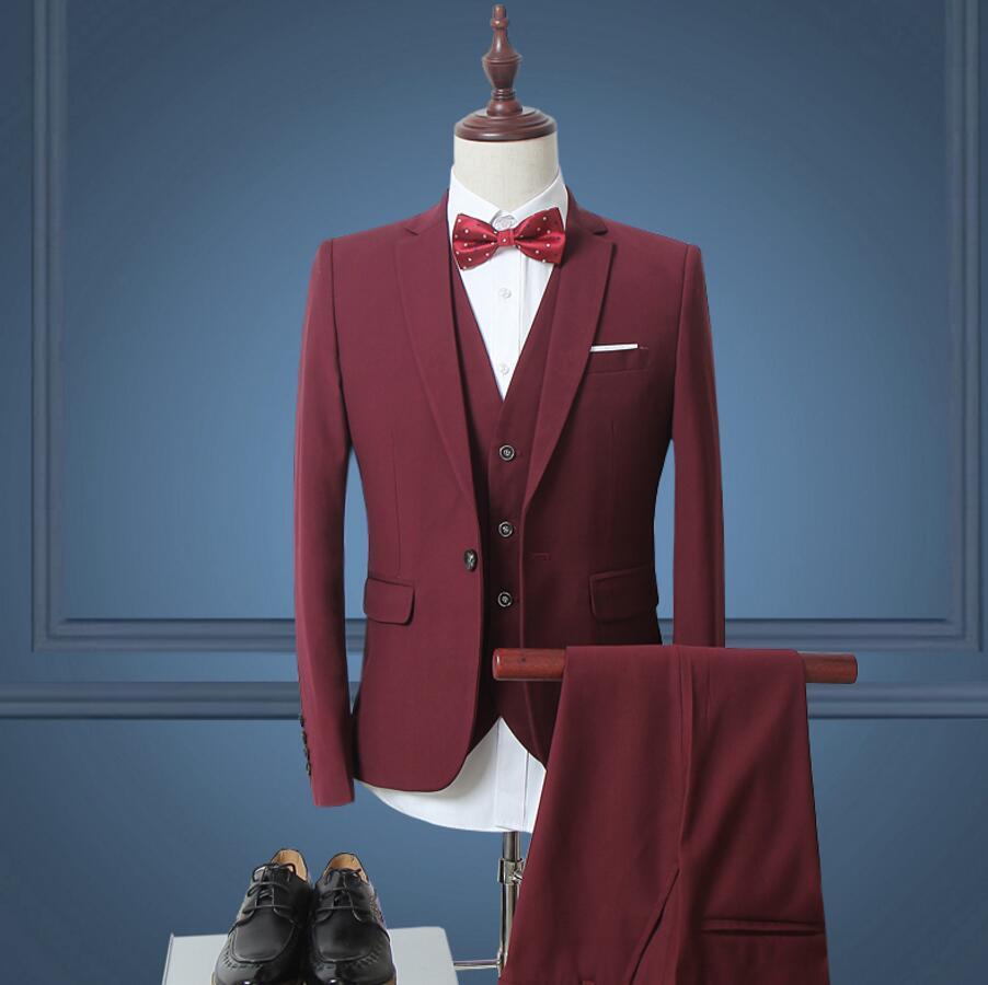 New Men Suit Trend custom Suits Jacket Formal Dress Men Suit Set Men ...