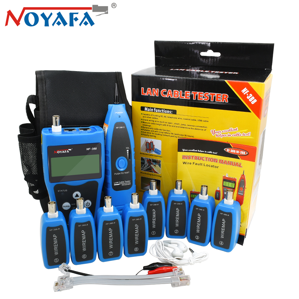 Noyafa Nf 388 Remote Finder Cable Locator Tester Wire Tracker Tracer Wiring A Wall Network Port Lcd Rj45 Rj11 Bnc Usb Telephone Toner Tool Kit Blue In Networking Tools From
