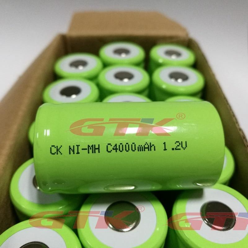 C Size 4000mAh 1.2V Nimh Mi-mh C Type 4500mah Rechargeable Battery For Pack Light Flashlight Gas Stove Radio Wheel Alignment