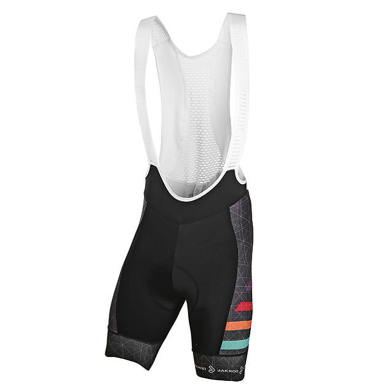 Jakroo RAINBOW Men's 1/2 Cycling Bib Shorts 5 Times Elastic Wearable Fabric Cycling Shorts Bomio Men's Cushion Cycling Clothing jakroo elt women s 1 2 cycling shorts quick dry breathable highly elastic cycling clothing bicycle equipment tsw belgian cushion