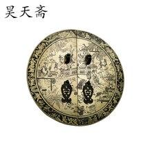 [ Хаотянь вегетарианская ] китайский античная медь дверная ручка HTB-158 медная гравюра ручка 28 см круглых цифрах