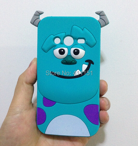Cute 3D Cartoon Sulley Silicone Case Back Cover Samsung galaxy Ace 4 G313 G313H - ALEX ZHOU Store store