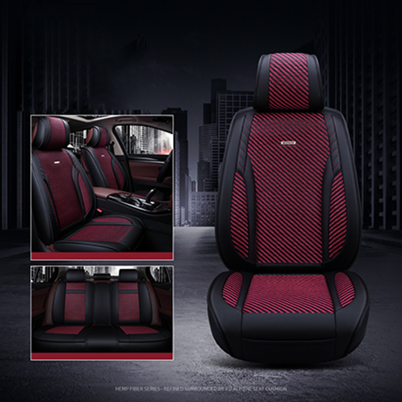 2018 New Ice Silk Car seat cover Breathable seat cushion Support Summer 5 seat Covers for toyota solaris RAV4 skoda rapid auto цены