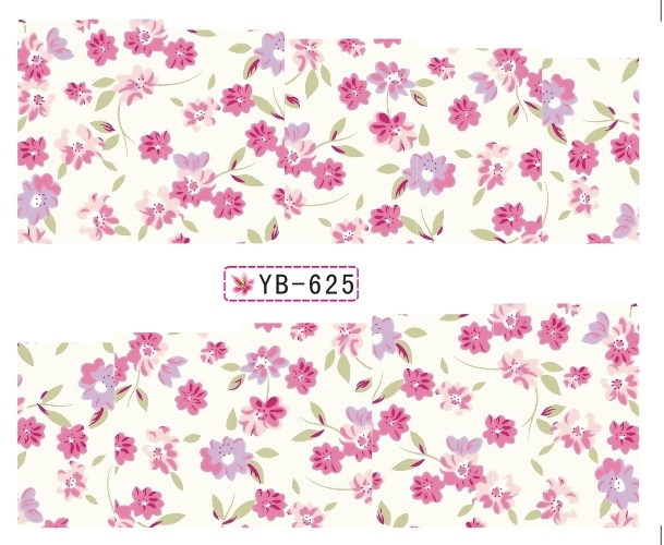 Nail Sticker Water Transfers Stickers Nail Decals FLORAL ORCHIS NARCISSUS CHRYSANTHEMUM YB625-636