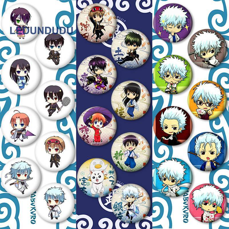MekakuCity Actors Kagerou Project Cosplay Badges Anime GINTAMA Gintoki Sakata Brooch Pin Collection Cute Badge For Backpack Xmas