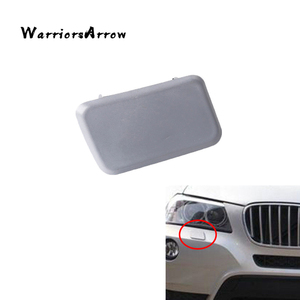 WarriorsArrow Front Headlight Washer Nozzle Jet Cover Cap Right Random Color For BMW X3 E83 LCI 2006-2010 Facelift 61673443132