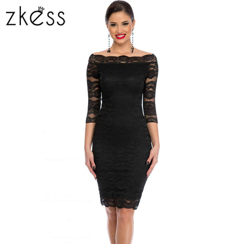 Detail Feedback Questions about Zkess Womens Elegant Delicate Floral Lace  Dress Casual Party Bodycon Special Occasion Bridemaid Mother of Bride Dress  ...