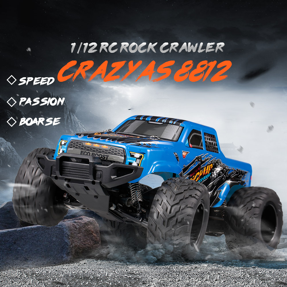 8812 1:12 RC Car 2.4G 4WD Full-Scale High Speed 35Km/h RC Rock Crawler Off-road Monster Climbing Car Kids Toys Boys Gift